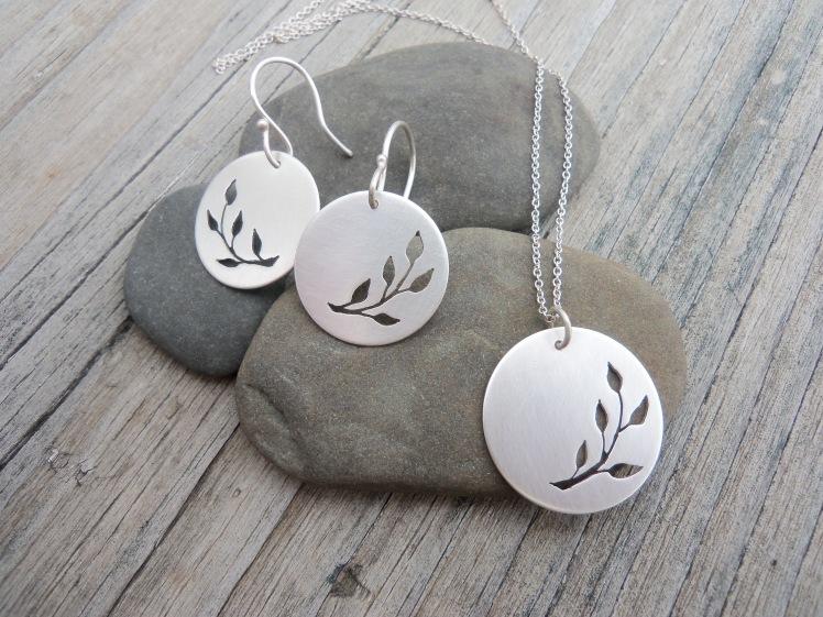 Hand pierced Silver Set
